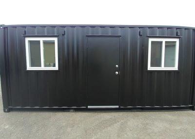 Jobsite container in black.