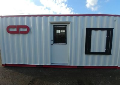 Jobsite container with Logo, security and sign option.