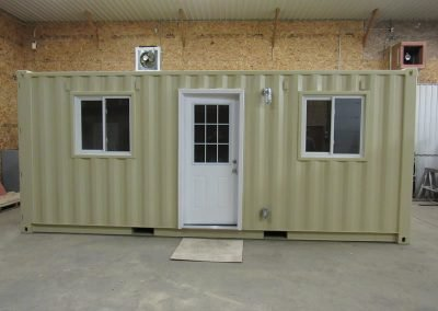 Bunkie outside front door and 2 windows
