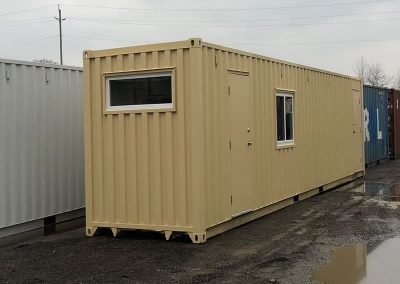 Job-site Container - a variety of window options to let in light