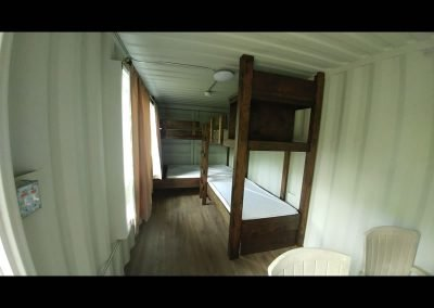 bunk beds inside a bunkie storage container